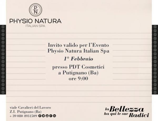 Physio Natura Italian SPA Event on 1st of february