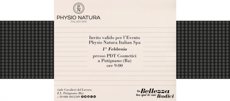 Physio Natura Italian SPA Event on 1st of february
